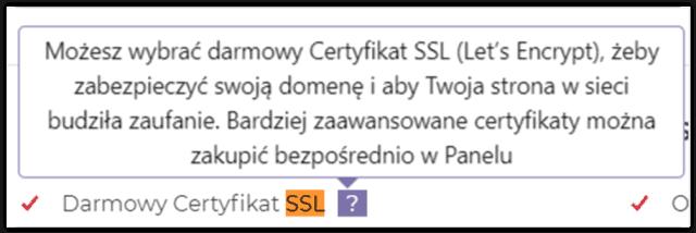 Darmowy SSL na hostingu