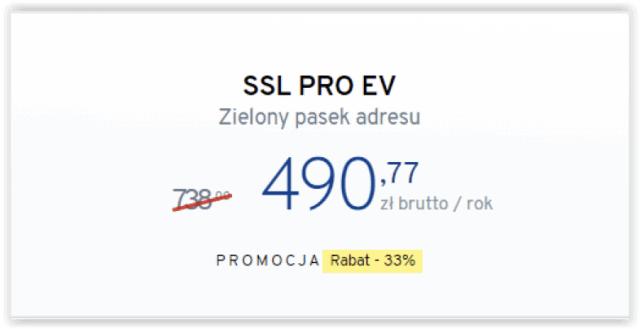 Płatny certyfikat SSL: ponad 700 zł rocznie