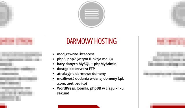 Oferta hostingu za darmo od PRV.pl