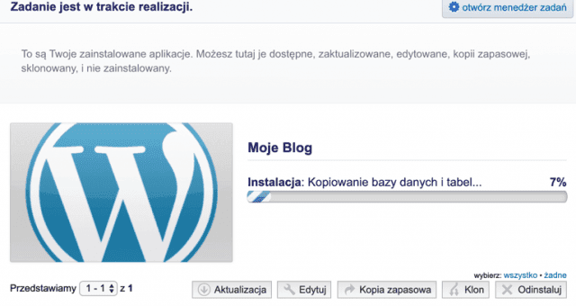 Autoinstalator w SeoHost - instalacja WordPressa