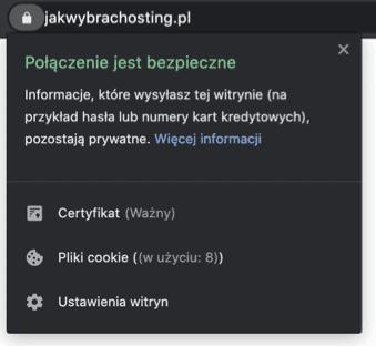 Połączenie jest bezpieczne - Chrome