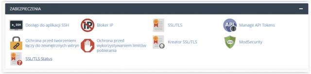 Zabezpieczenia i SSL w cPanelu