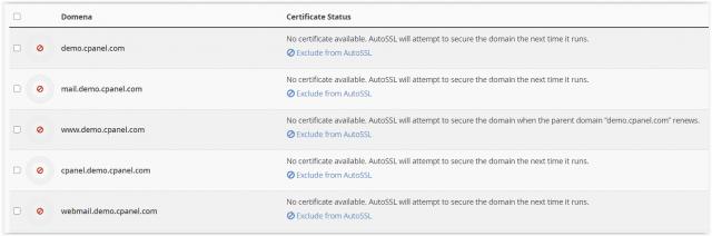 Generowanie certyfikatu SSL w cPanelu