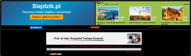 Reklamy na stronie WWW utrzymywanej na darmowym hostingu PRV.pl